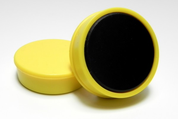 Organisationsmagnete 36mm rund, gelb