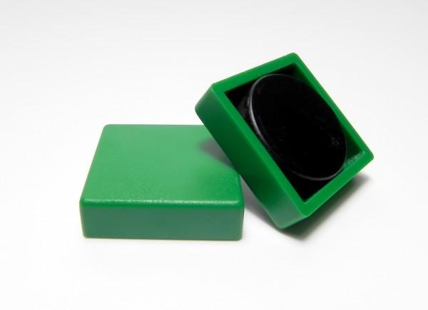 Organisationsmagnete 35mm x 35mm, quadratisch, grün