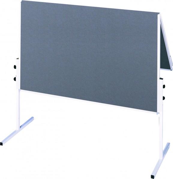 Moderationstafel ECO, 120 x 150 cm, grau/Filz, grau/Filz, klappbar