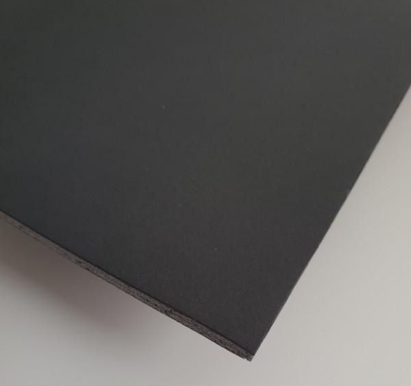 Leichtschaumplatte kaschiert schwarz