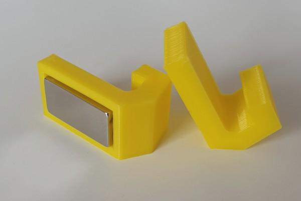 Magnethaken gelb, eckig