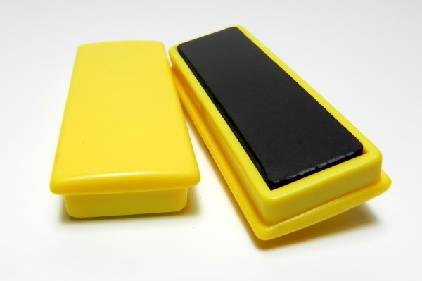 Organisationsmagnete 55mm x 22,5mm, rechteckig, gelb