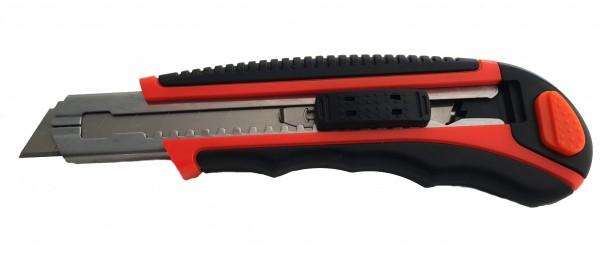 Metall Cutter mit Gummigriff 18mm Abbrechklinge