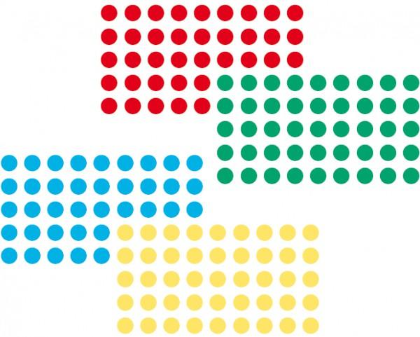 Markierungspunkte rot und grün, je 500 Stück