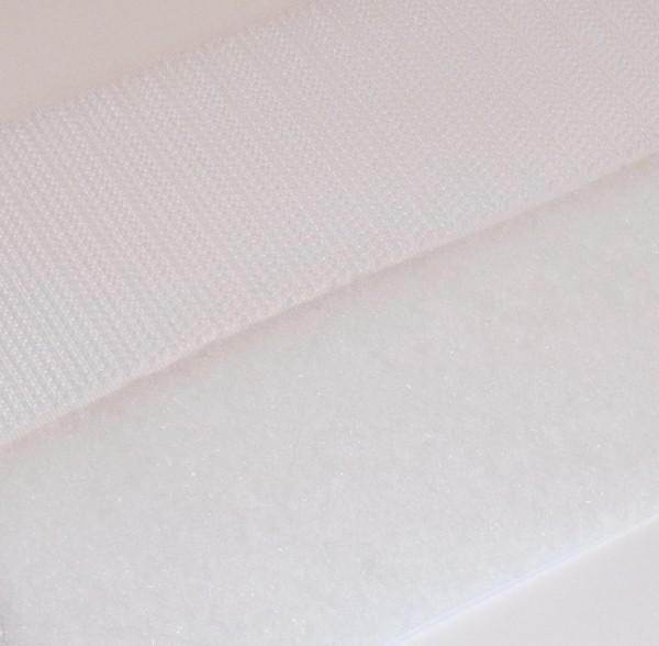 Klettband selbstklebebend Haken und Flausch weiß