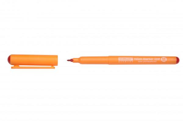 Folienmarker F non permanent, rot, Strichstärke 0,6mm