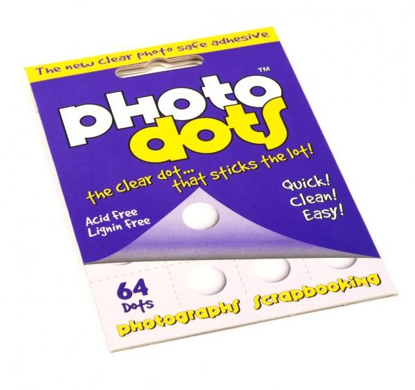 Klebepunkte doppelseitig, transparent 10mm, für Fotos