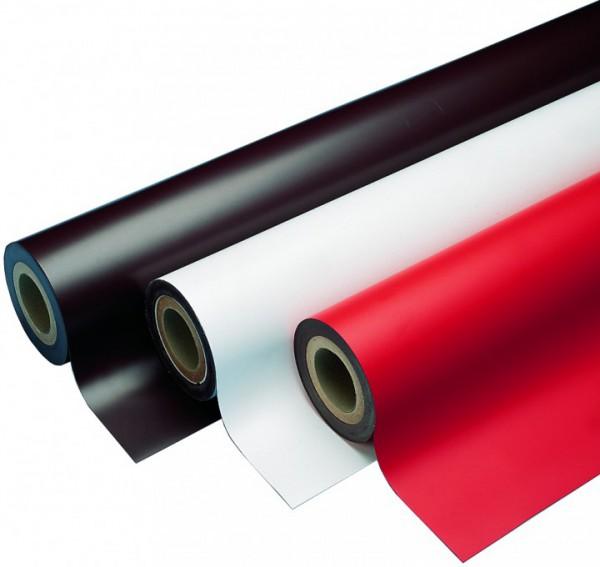 Magnetfolie weiß, 615mm, 30m Rolle, bedruckbar, magnetische Werbeschilder