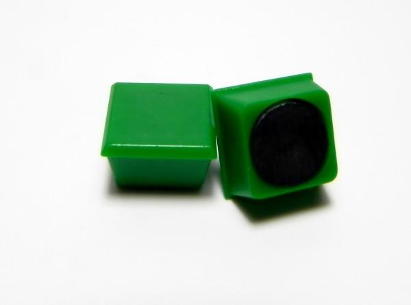 Organisationsmagnete 11mm x 11mm, quadratisch, grün