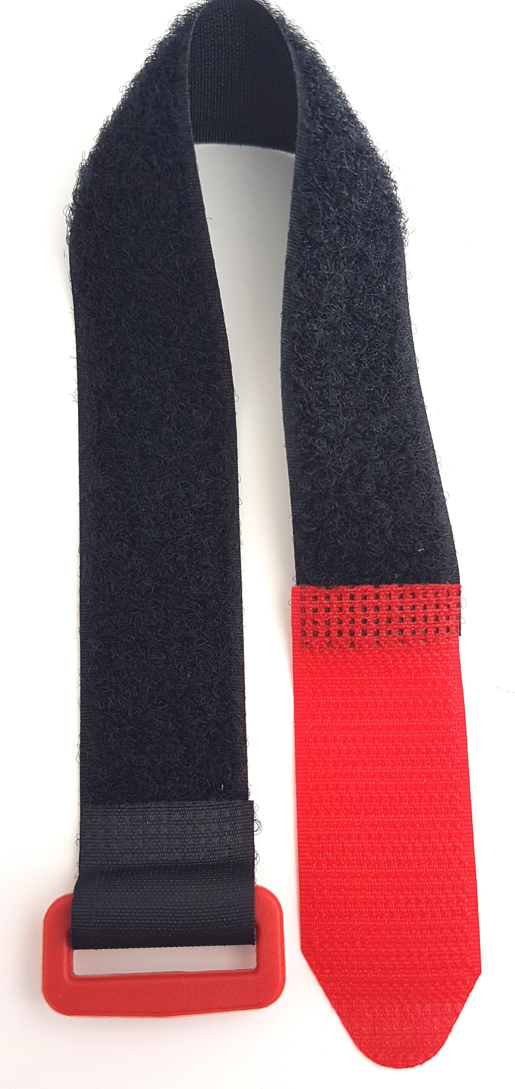 10x Klettbinder 400x30mm Kabelbinder wiederverwendbar Band normal rot