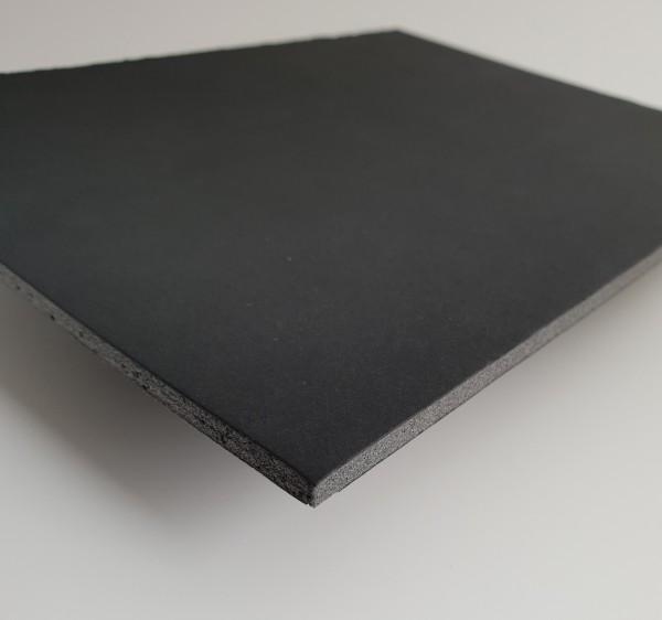 Leichtschaumplatte schwarz kaschiert