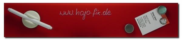 Glastafel 10 x 50 cm, rot, magnetisch