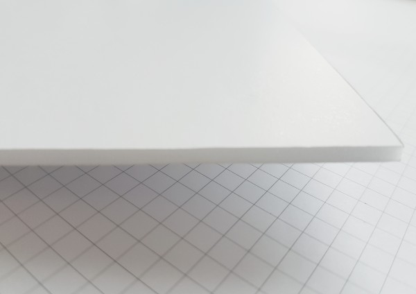 Leichtschaumplatten weiß kaschiert