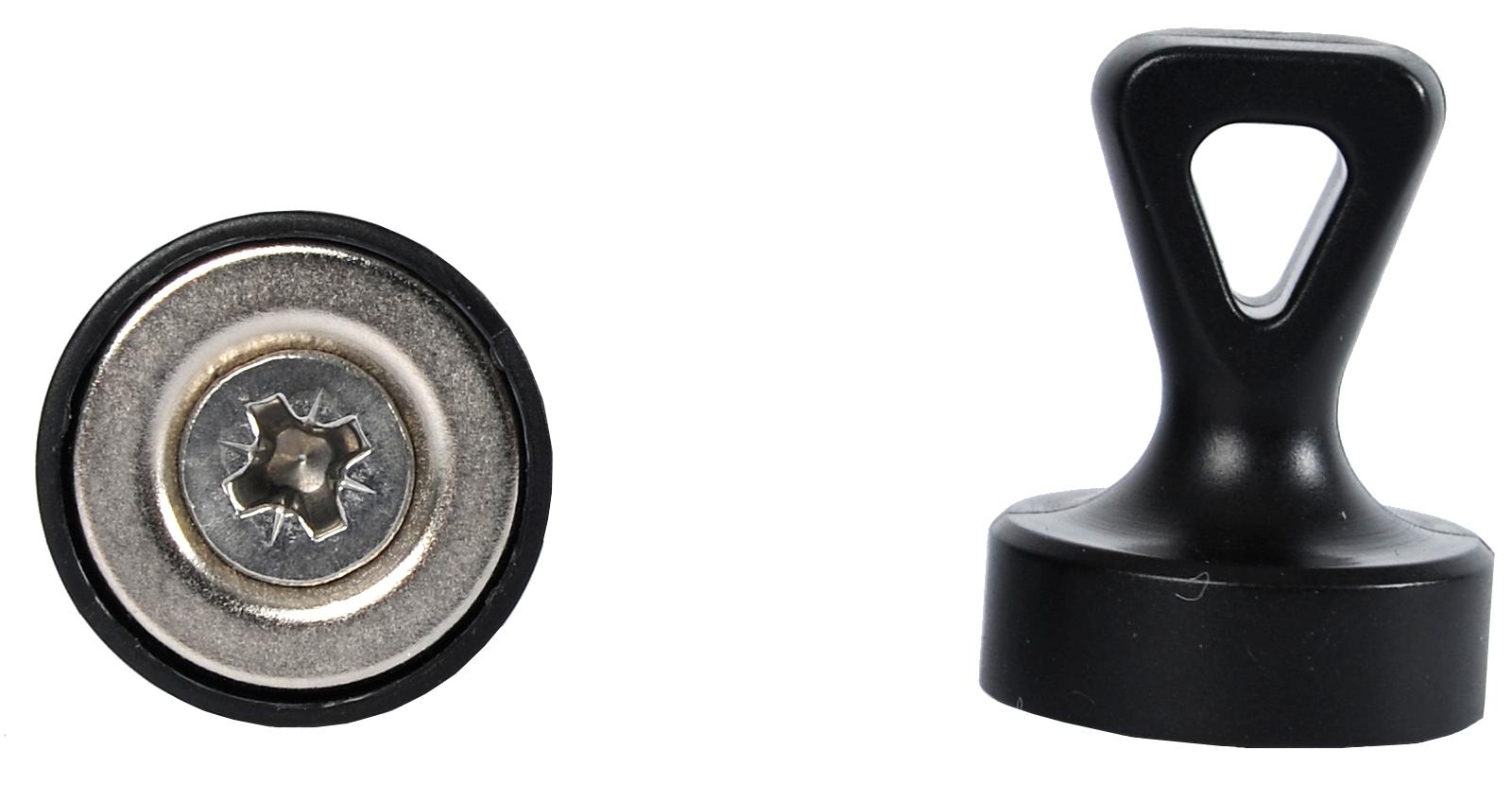 25 Ferritmagnet Schwarz 17mm x 3mm Werkeln Basteln und Deko Magnette DEK83