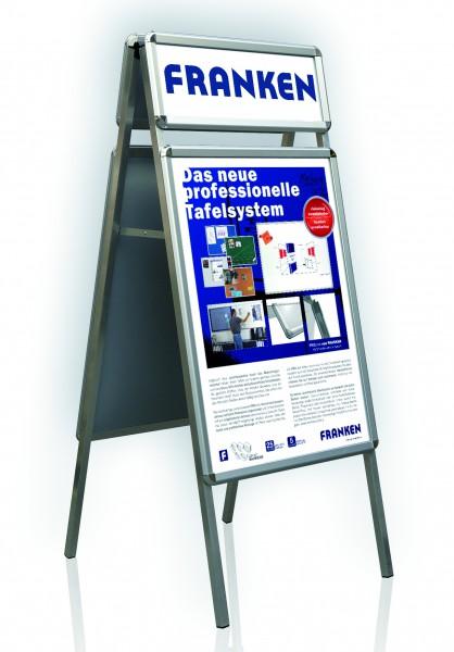 Kundenstopper für Innenbereich DIN A1 mit zusätzlicher Werbefläche