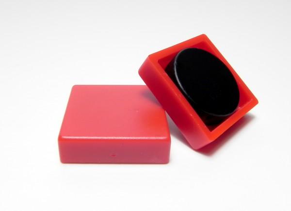 Organisationsmagnete 24mm x 24mm, quadratisch, rot