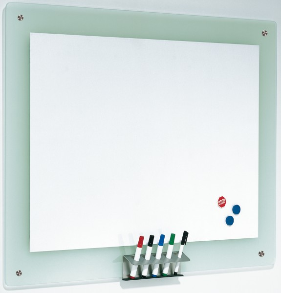 Whiteboard Tafel mit Glasrahmen, Whiteboard Euroline