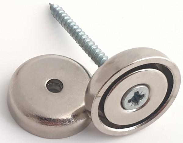 Magnet zum anschrauben, Bohrung und Senkung