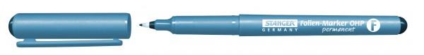 Folienmarker permanent, blau