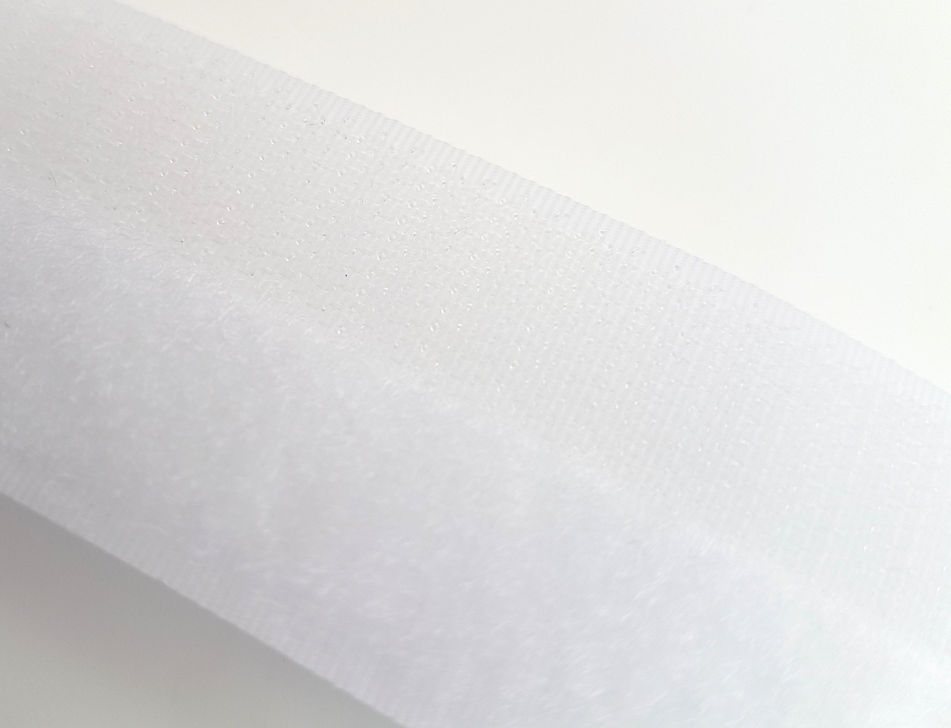 Flausch+Haken weiß 25 Meter Klettband 16 mm