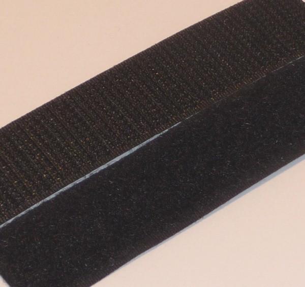 Klettband selbstklebend schwarz Haken und Flausch 20mm