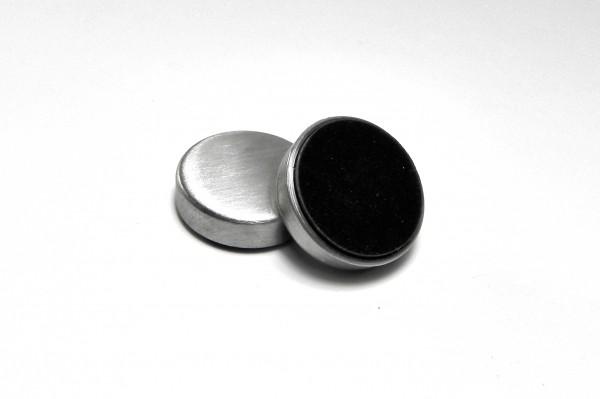 Magnet mit Filzunterseite und Edelstahlkappe