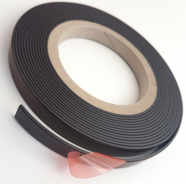 Selbstklebendes Magnetband 20 x 1,2mm, 50m Rolle