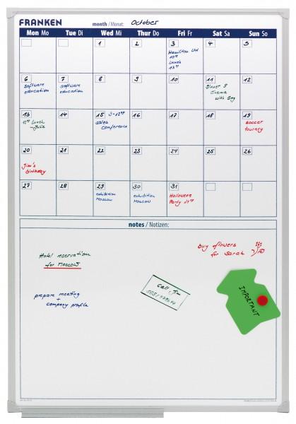 Monatsplaner Whiteboard, beschreibbar und magnetisch