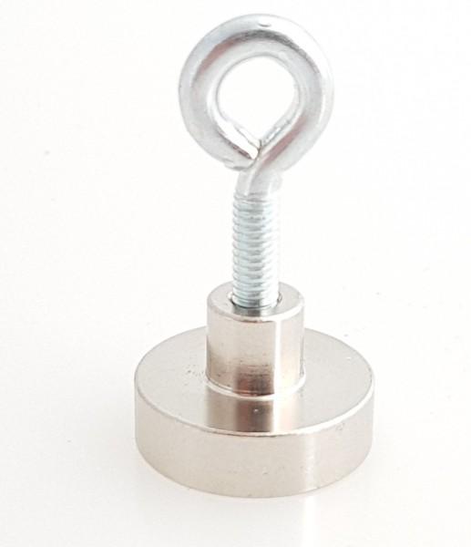 Magnet mit Öse Neodymkern 25mm